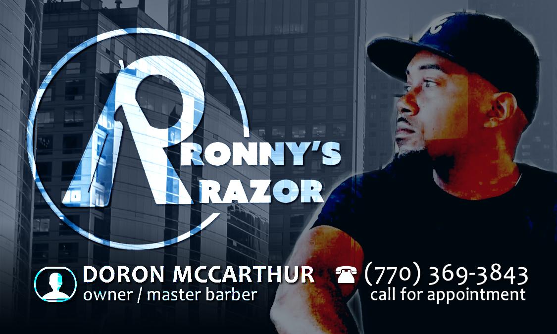 Ronny's Razor on Rank In The City | Doron McCarthur - Master Barber | (770) 369- 3843 | Atlanta, Duluth, Gwinnett, Lawrenceville | All hair types.