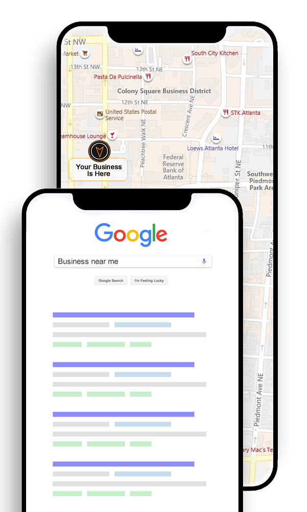 Rank In The City » Be On First Page In Search With Your Business | Search Visibility | Search Ranking | Google Search on Phone